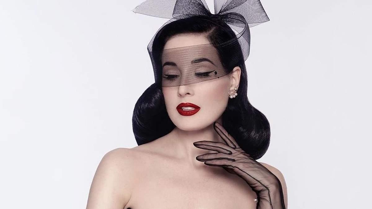 Дита фон Тиз снялась в леопардовом белье: эротическое фото модели