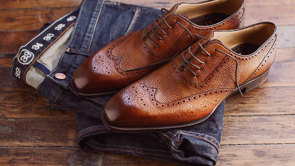 Как носить мужские туфли с джинсами: правила выбора и примеры