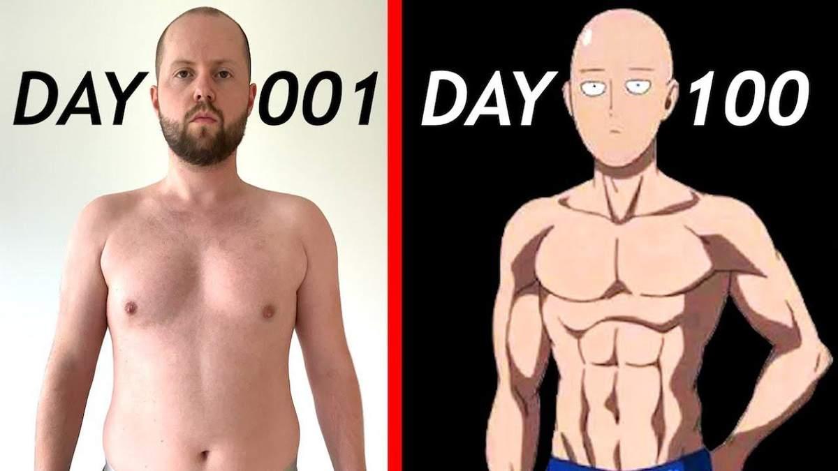 Блогер протягом 100 днів виконував тренування героя аніме Ванпанчмен