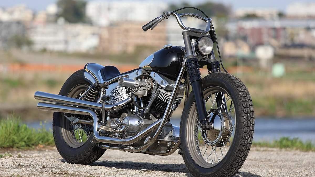 Потужний і мінімалістичний: майстри прокачали 50-річний Harley-Davidson FLH Shovelhead – фото