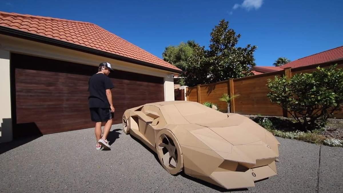 Картонний Lamborghini Avendator пустили з молотка, щоб допомогти дітям
