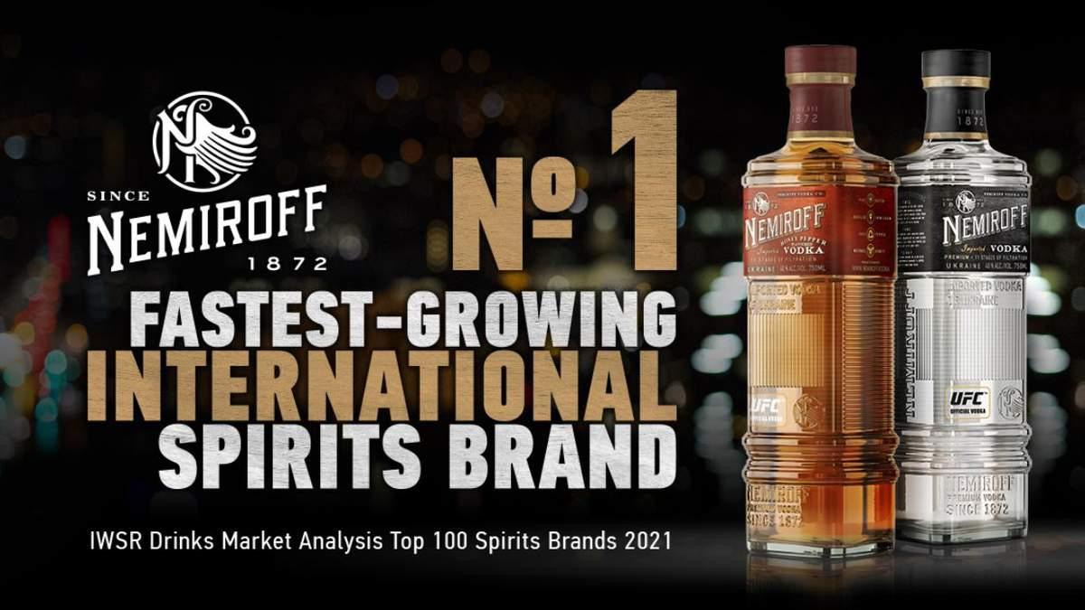 Nemiroff став №1 міжнародним брендом спиртних напоїв у світі