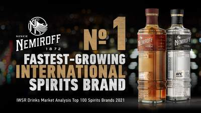 Nemiroff став №1 міжнародним брендом спиртних напоїв за швидкістю росту у світі